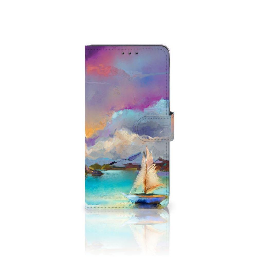 Samsung Galaxy A8 Plus (2018) Uniek Boekhoesje Boat