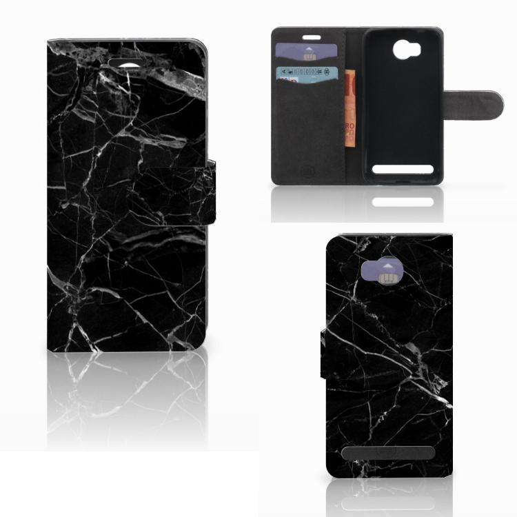 Huawei Y3 2 | Y3 II Bookcase Marmer Zwart - Origineel Cadeau Vader