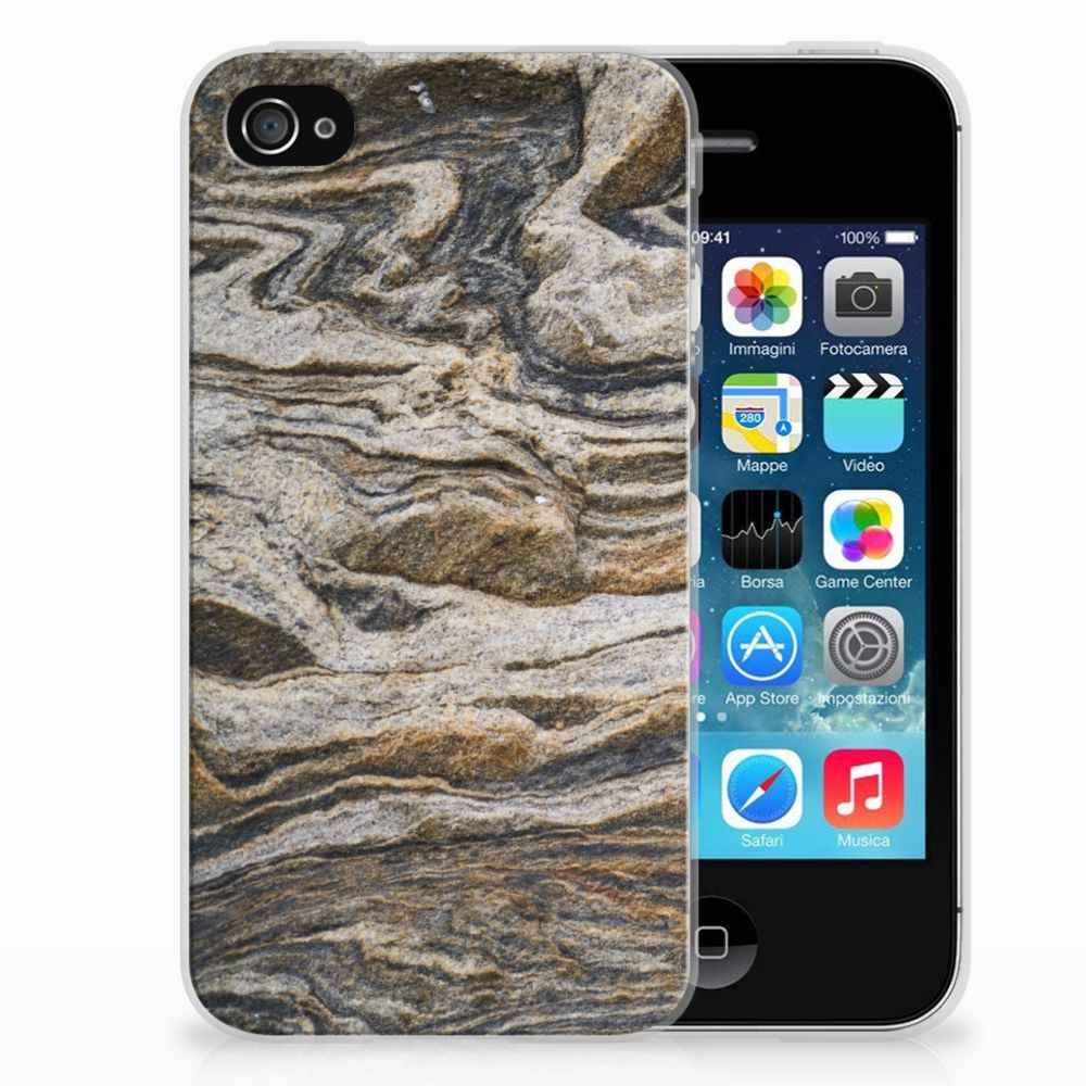 Apple iPhone 4   4s TPU Siliconen Hoesje Steen