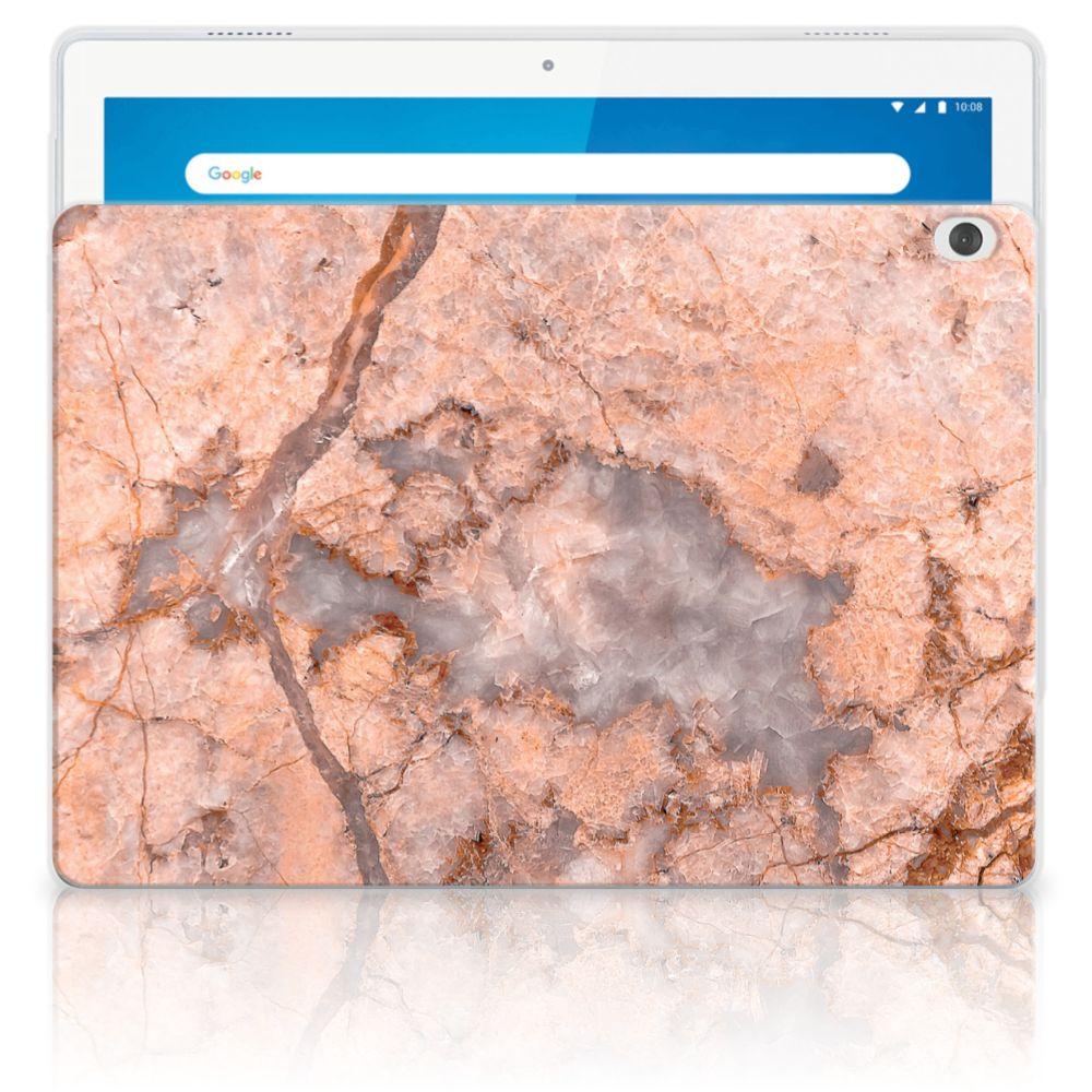 Lenovo Tab M10 Tablet Back Cover Marmer Oranje