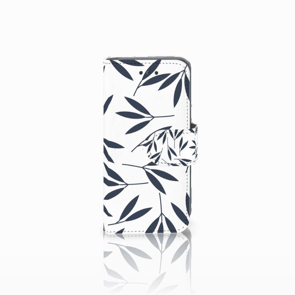 Apple iPod Touch 5 | 6 Boekhoesje Design Leaves Blue