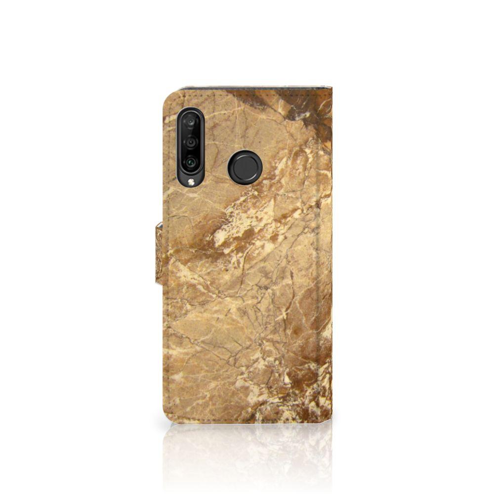 Huawei P30 Lite (2020) Bookcase Marmer Creme