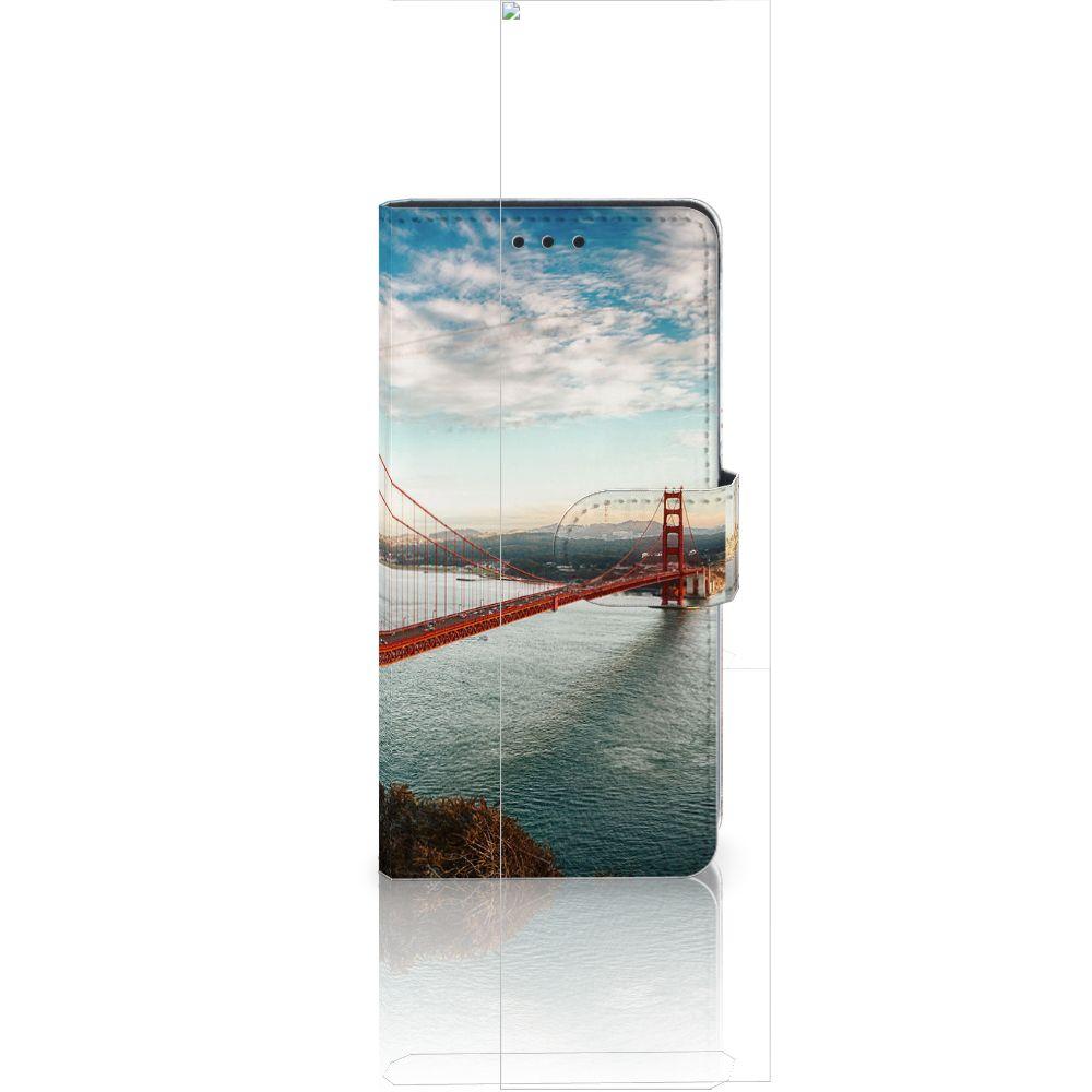 Huawei Ascend P8 Lite Flip Cover Golden Gate Bridge