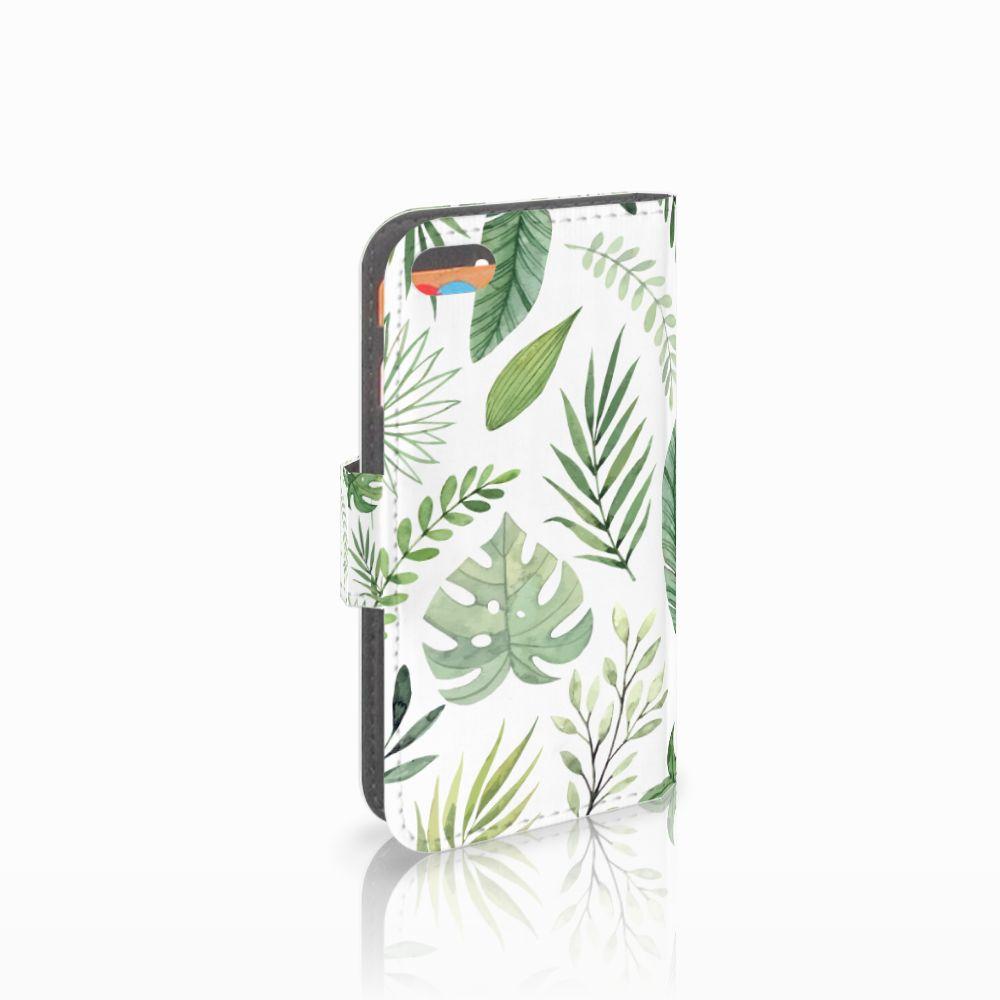 Apple iPhone 5C Uniek Boekhoesje Leaves