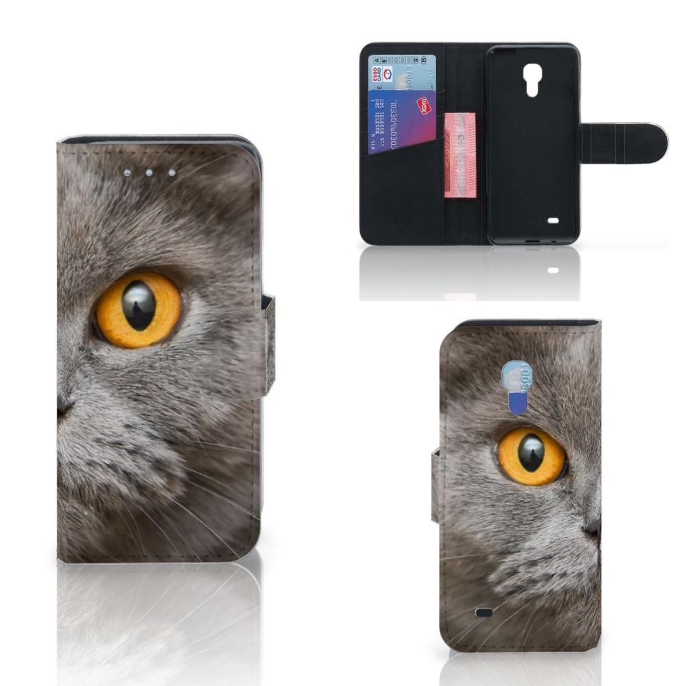 Telefoonhoesje met Pasjes Samsung Galaxy S4 Mini i9190 Britse Korthaar