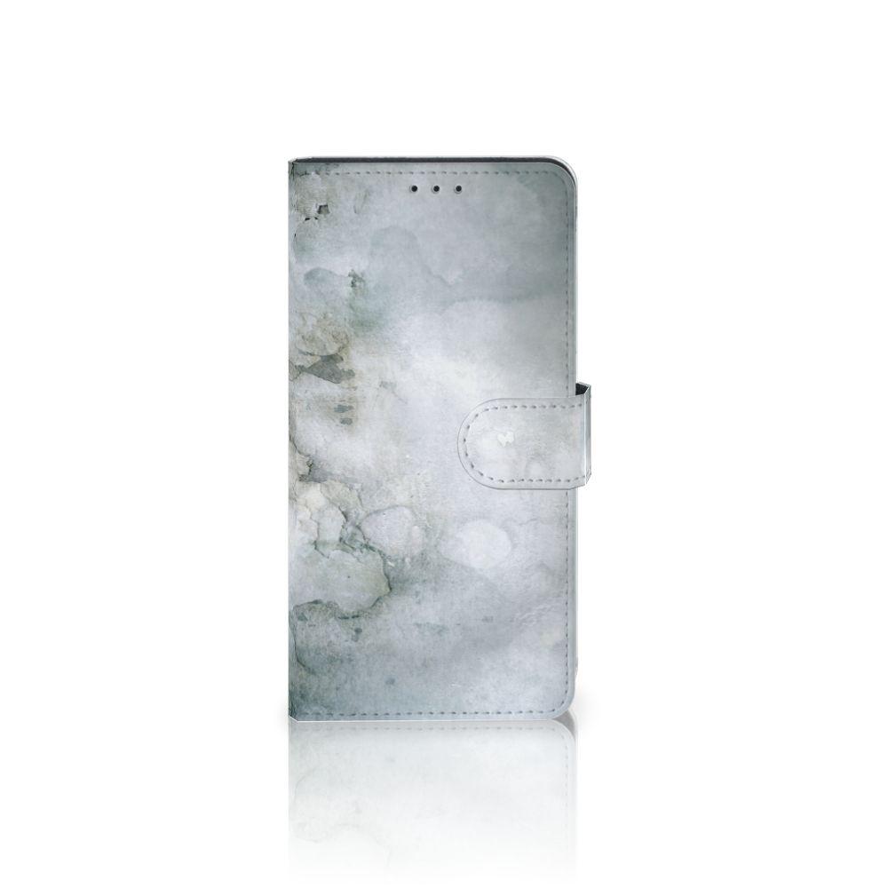 Samsung Galaxy A7 (2018) Uniek Boekhoesje Painting Grey