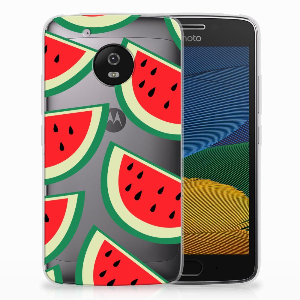 Motorola Moto G5 Siliconen Case Watermelons