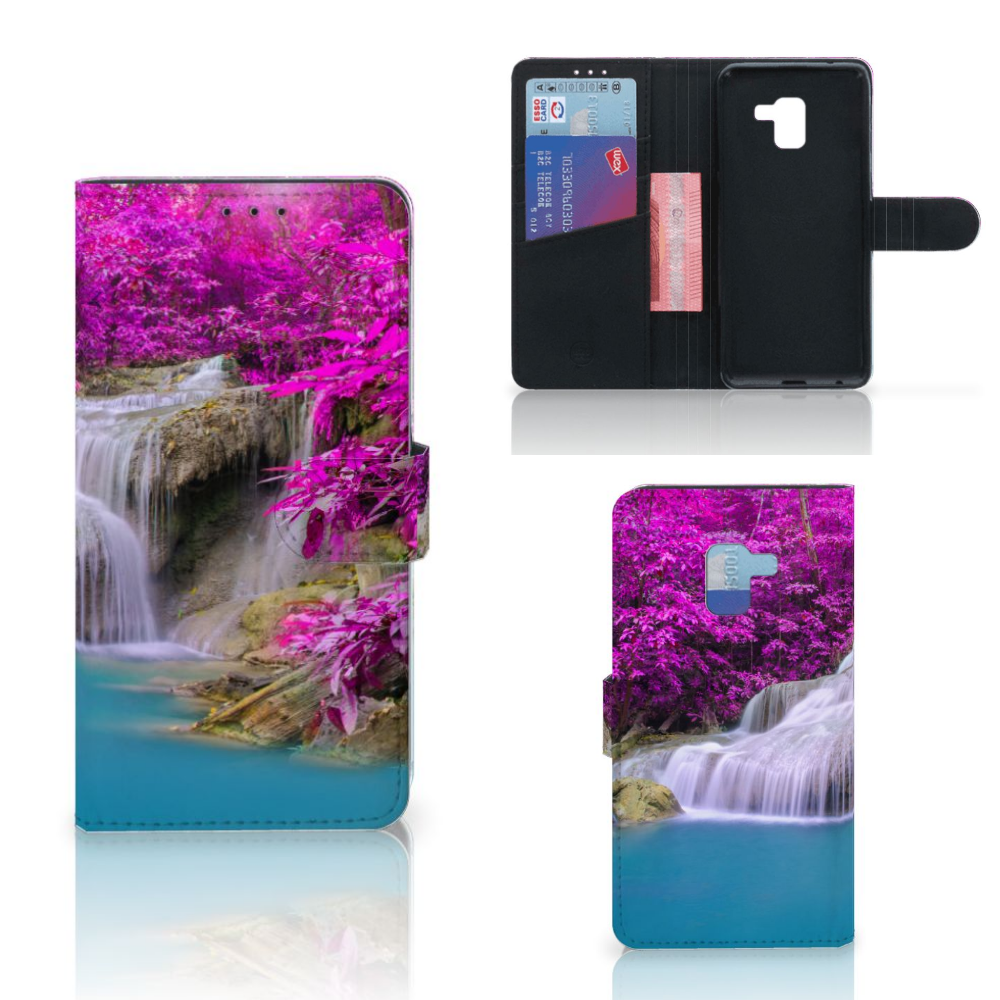 Samsung Galaxy A8 Plus (2018) Flip Cover Waterval