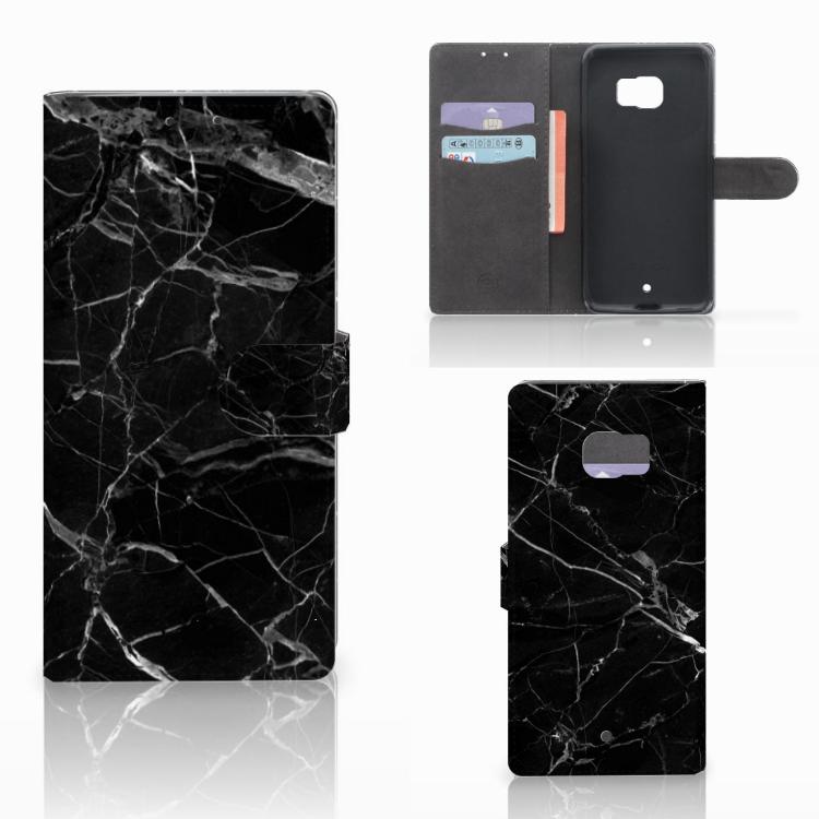 HTC U Ultra Bookcase Marmer Zwart