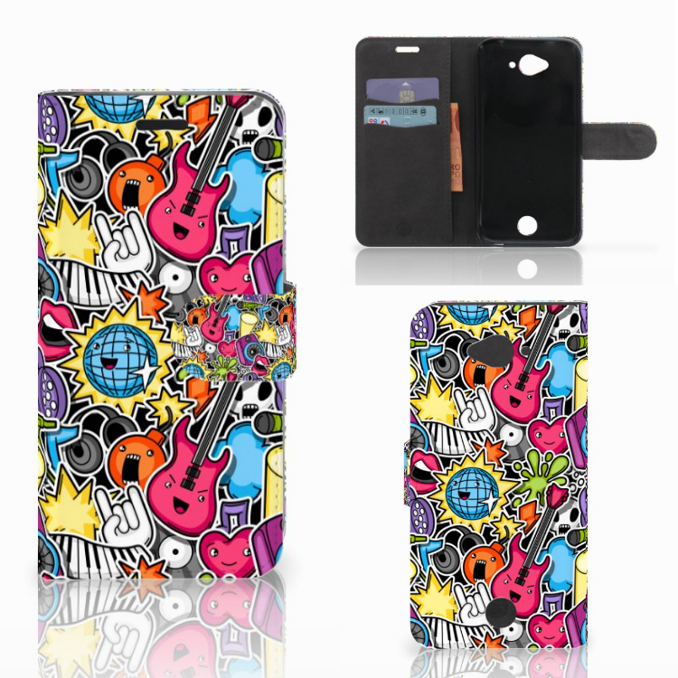 Acer Liquid Z530 | Z530s Wallet Case met Pasjes Punk Rock