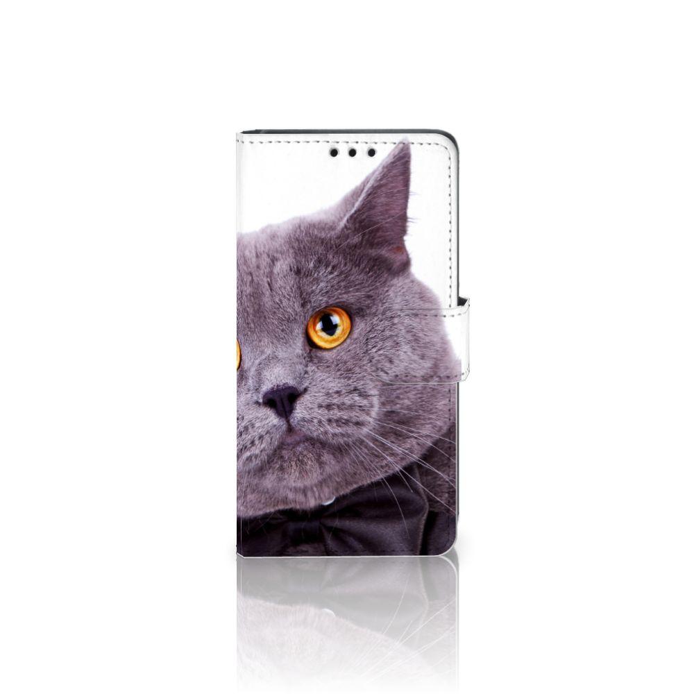 Sony Xperia Z5 | Z5 Dual Telefoonhoesje met Pasjes Kat