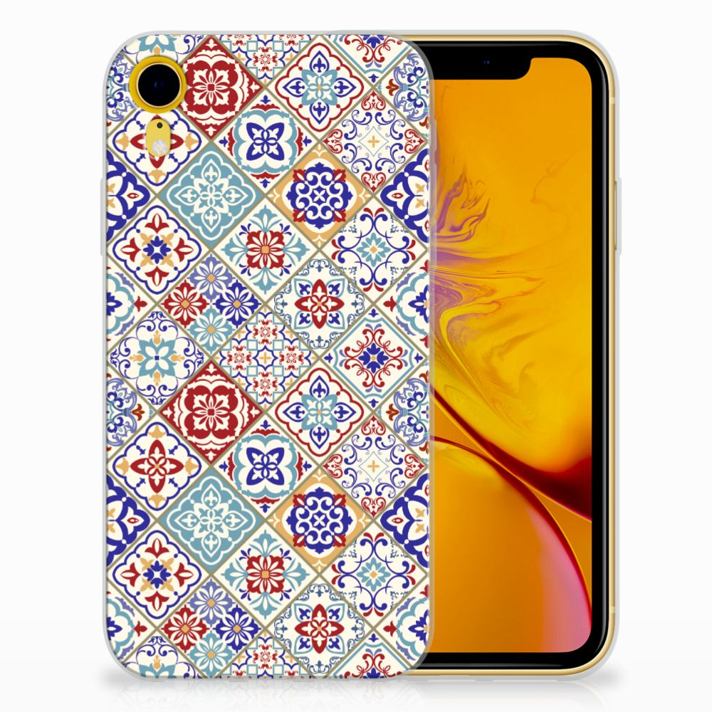 Apple iPhone Xr Uniek TPU Hoesje Tiles Color