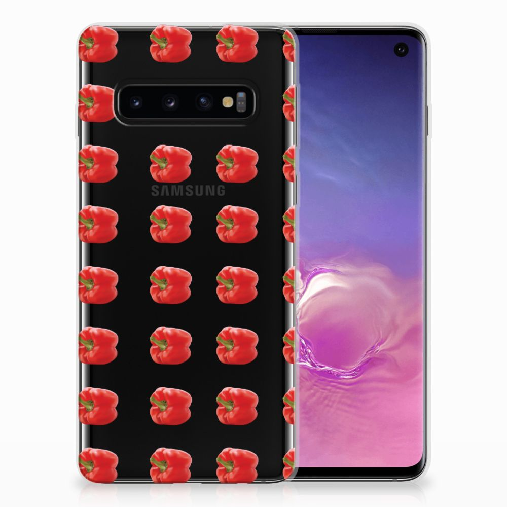 Samsung Galaxy S10 Siliconen Case Paprika Red