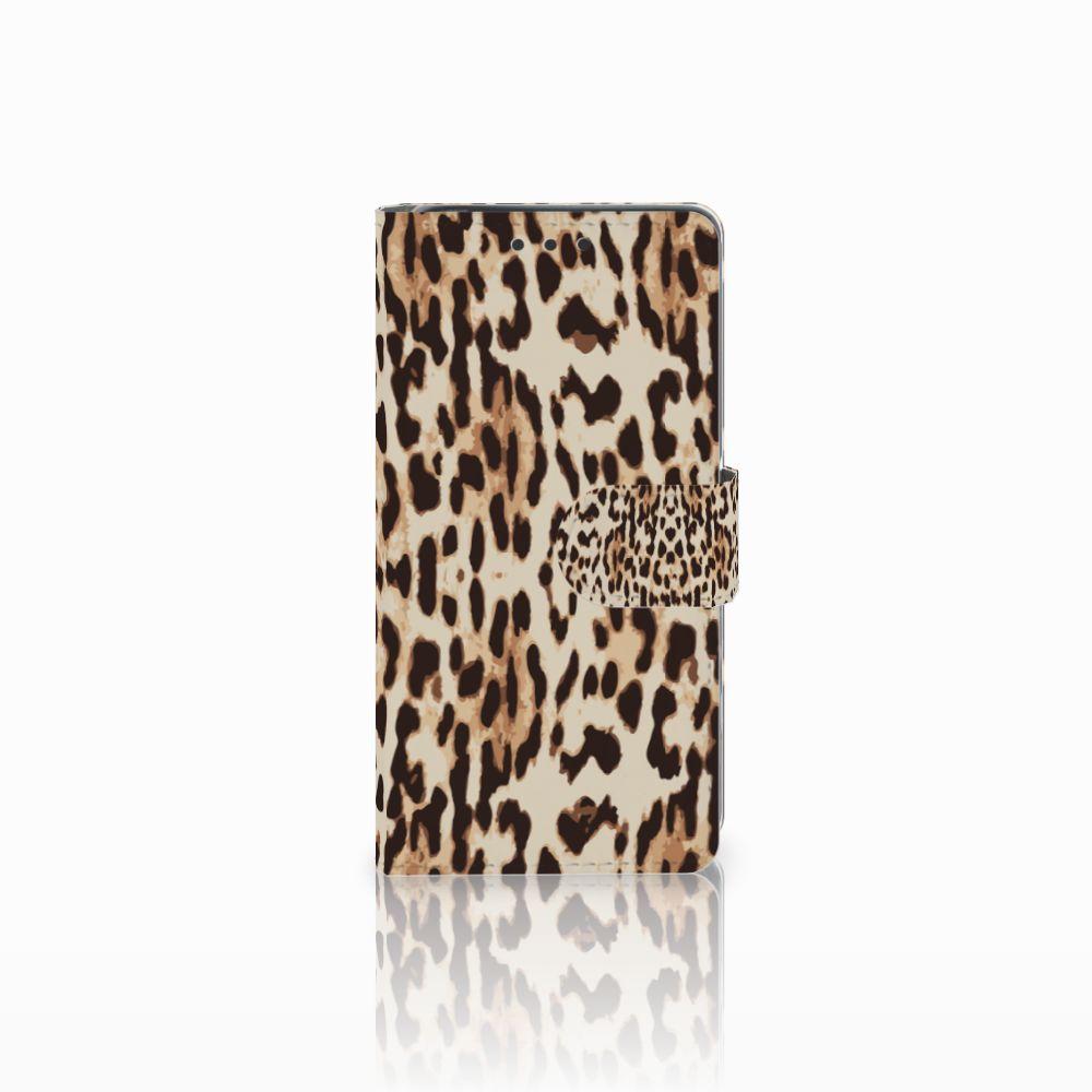 Sony Xperia X Uniek Boekhoesje Leopard