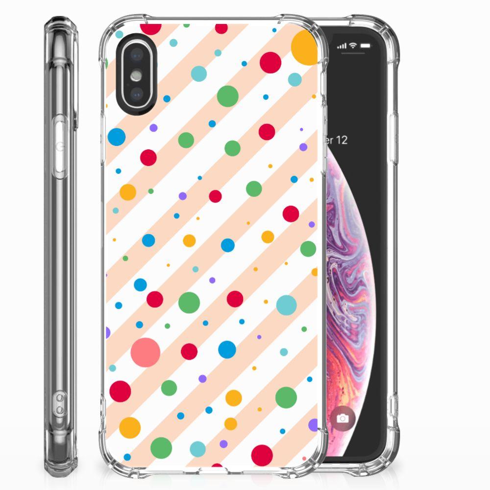 Apple iPhone X | Xs Doorzichtige Silicone Hoesje Dots