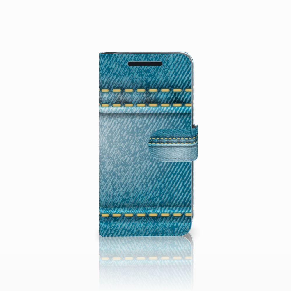 HTC One M9 Wallet Case met Pasjes Jeans