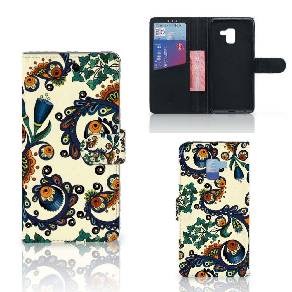 Wallet Case Samsung Galaxy A8 Plus (2018) Barok Flower