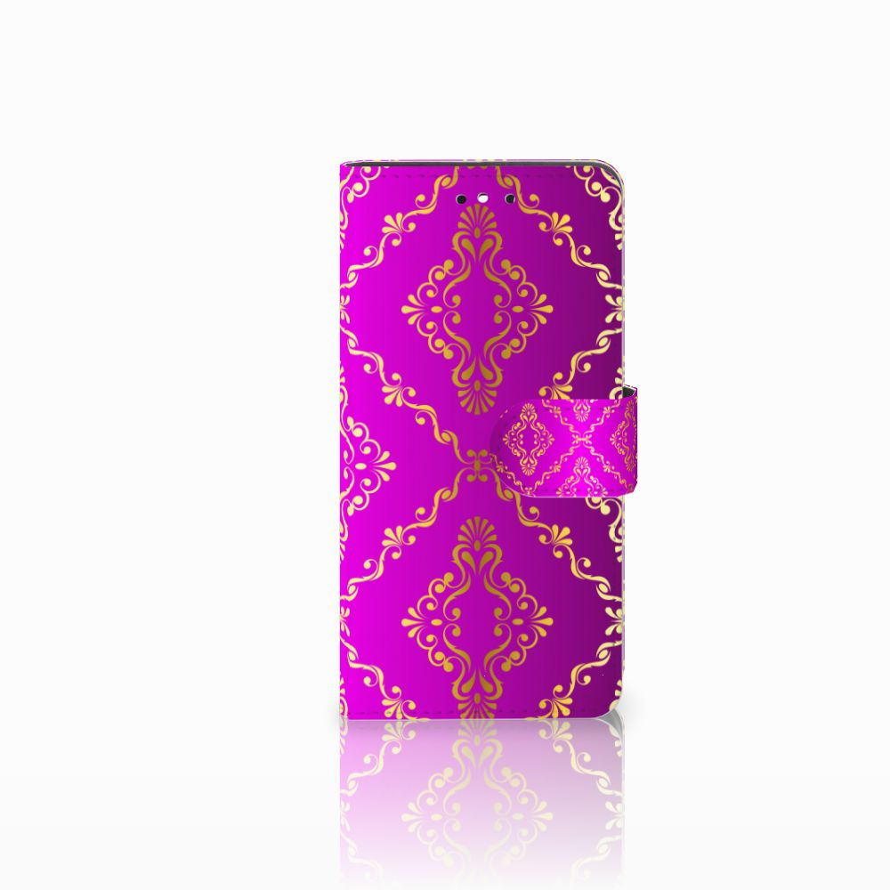 Huawei P8 Lite Smart (GR3) Uniek Boekhoesje Barok Roze