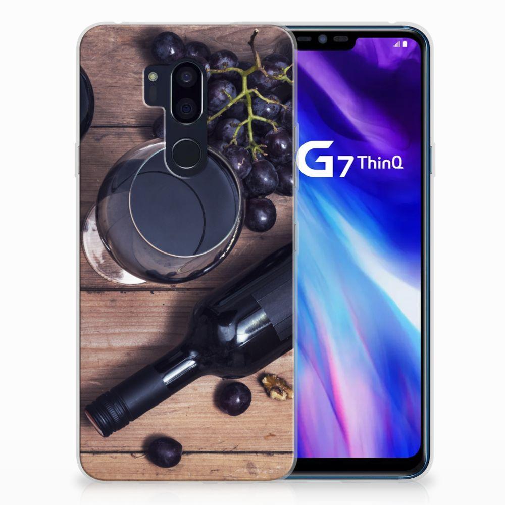 LG G7 Thinq Siliconen Case Wijn