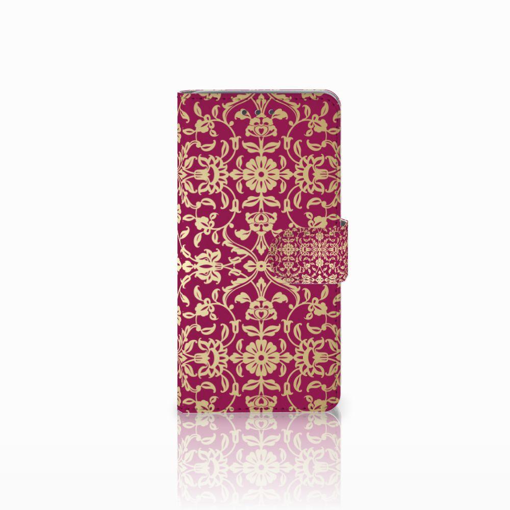 Wiko Lenny 2 Boekhoesje Design Barok Pink