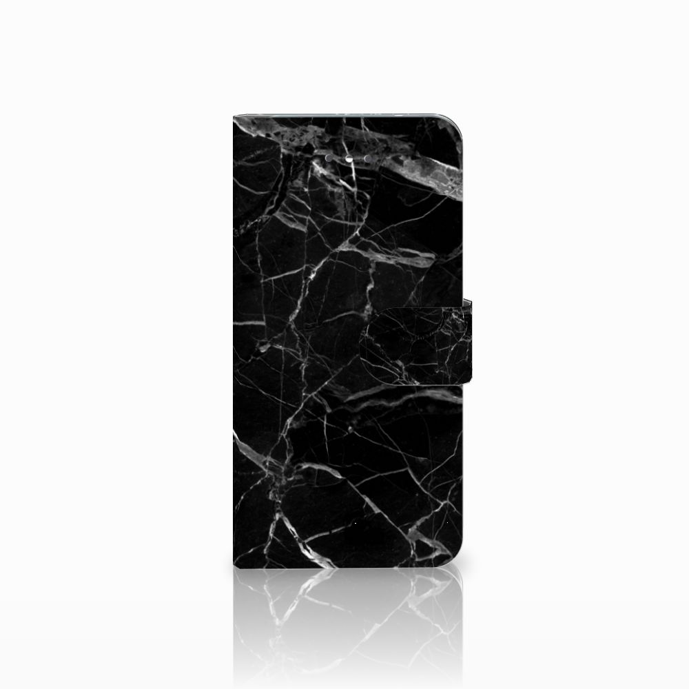 LG Nexus 5X Uniek Boekhoesje Marmer Zwart