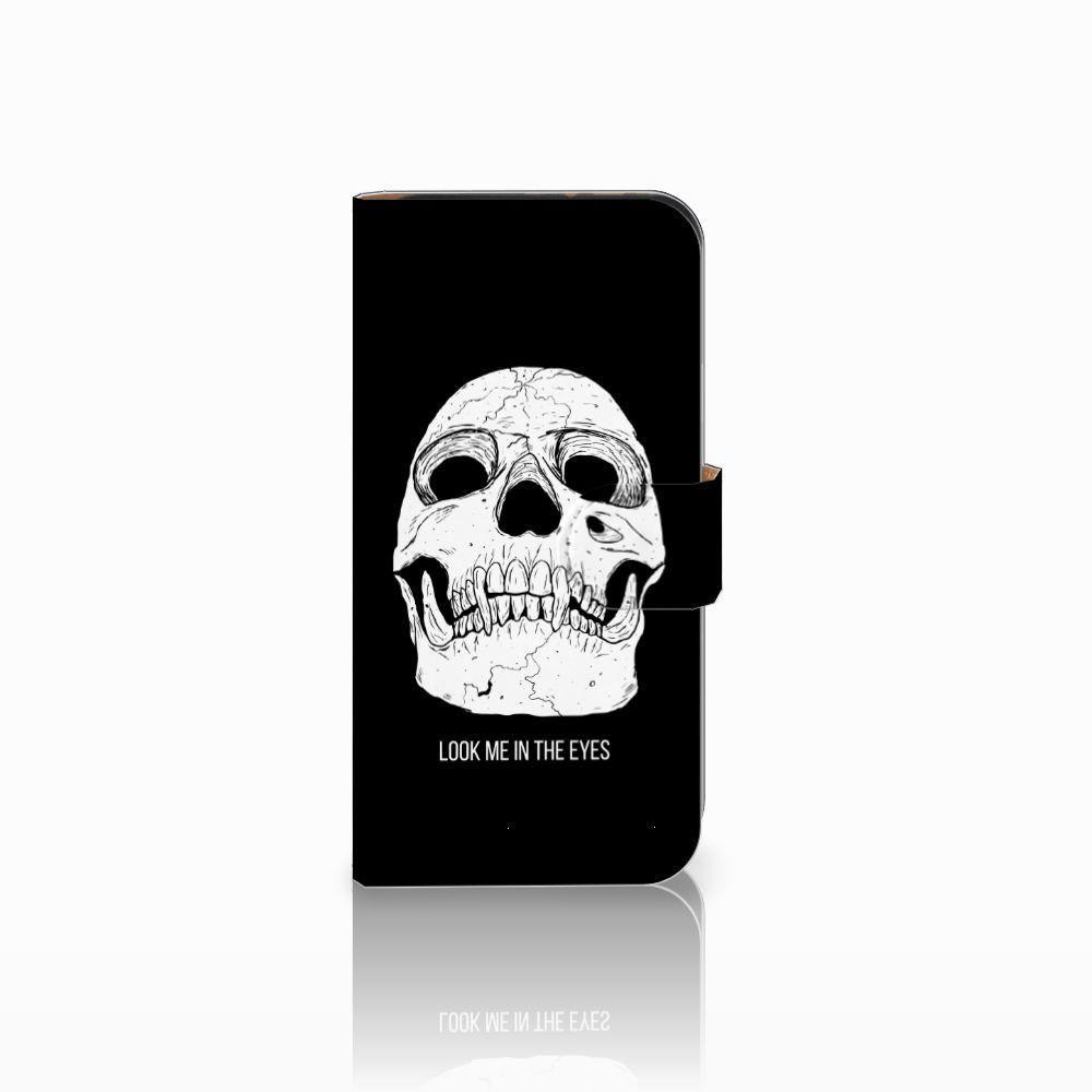 HTC One Mini 2 Uniek Boekhoesje Skull Eyes