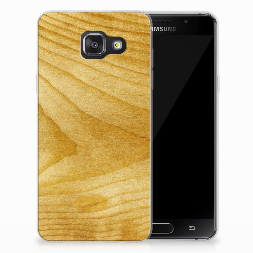 Samsung Galaxy A3 2016 Uniek TPU Hoesje Licht Hout