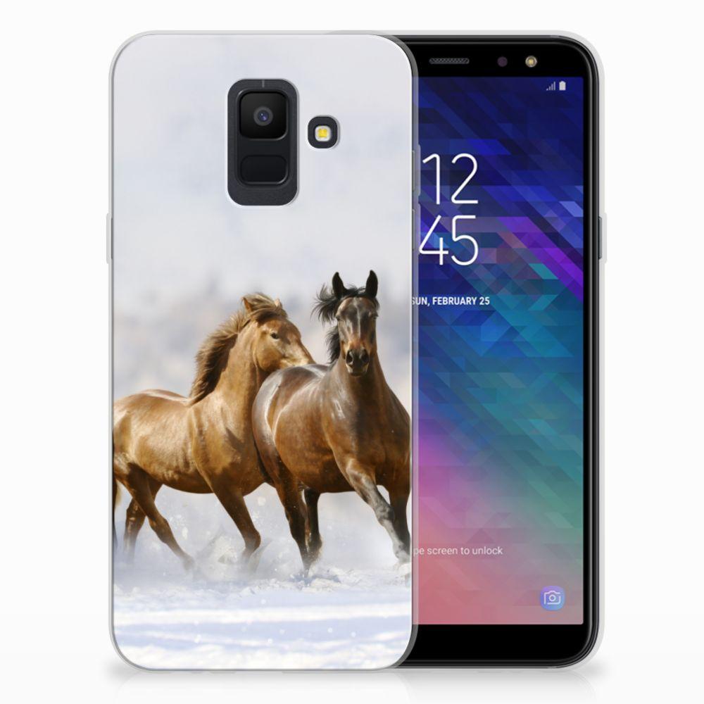 Samsung Galaxy A6 (2018) TPU Hoesje Paarden