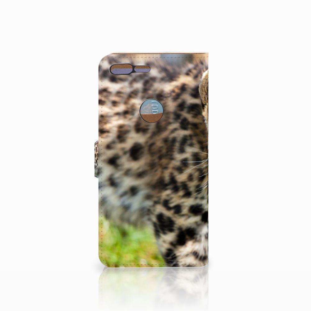 Google Pixel XL Telefoonhoesje met Pasjes Baby Luipaard
