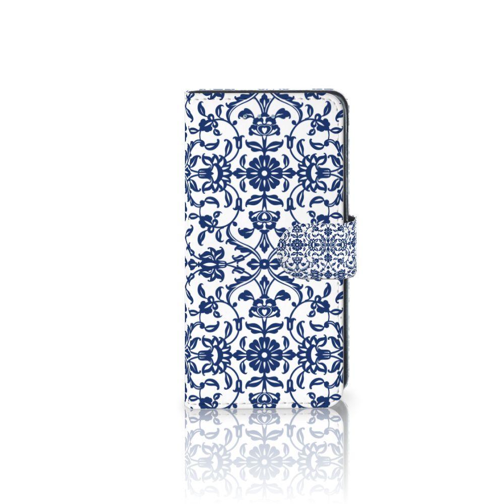 Samsung Galaxy J3 2016 Uniek Boekhoesje Flower Blue