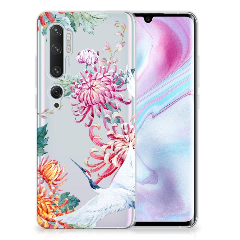 Xiaomi Mi Note 10 Pro TPU Hoesje Bird Flowers