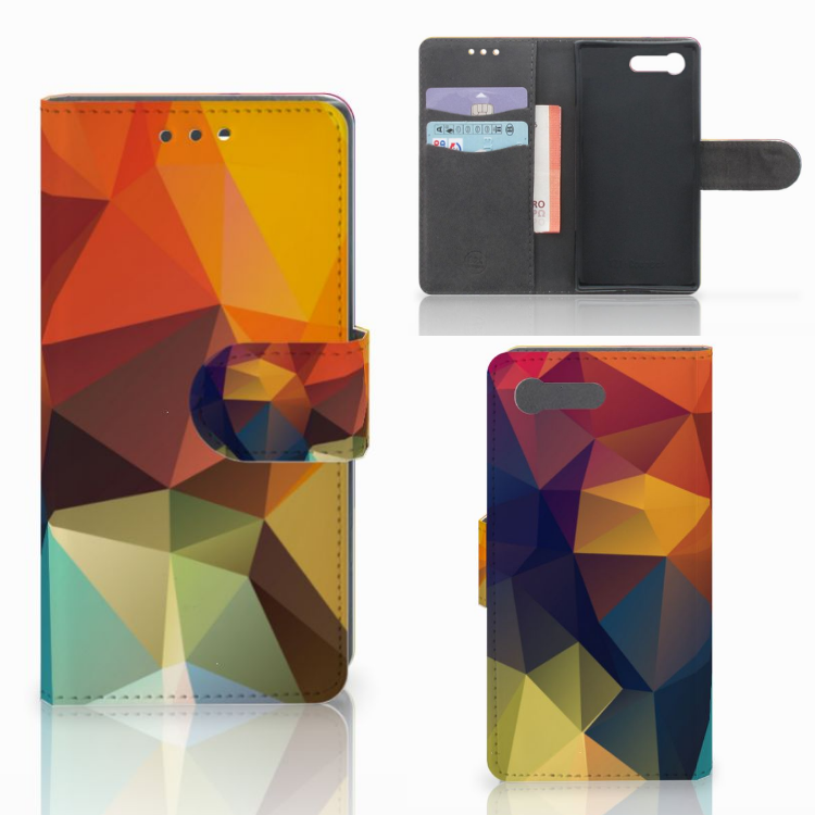 Sony Xperia X Compact Bookcase Polygon Color