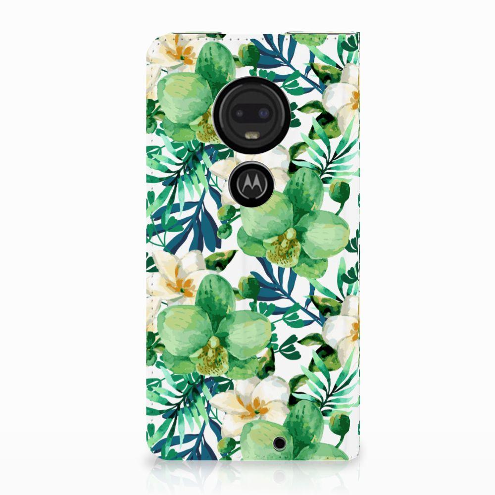 Motorola Moto G7 | G7 Plus Uniek Standcase Hoesje Orchidee Groen