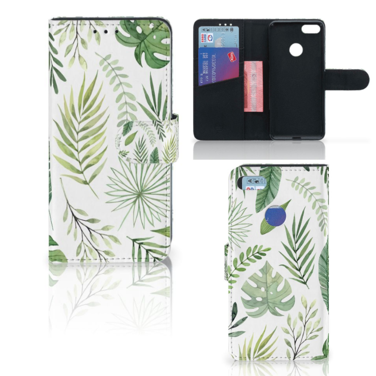 Motorola Moto E6 Play Hoesje Leaves