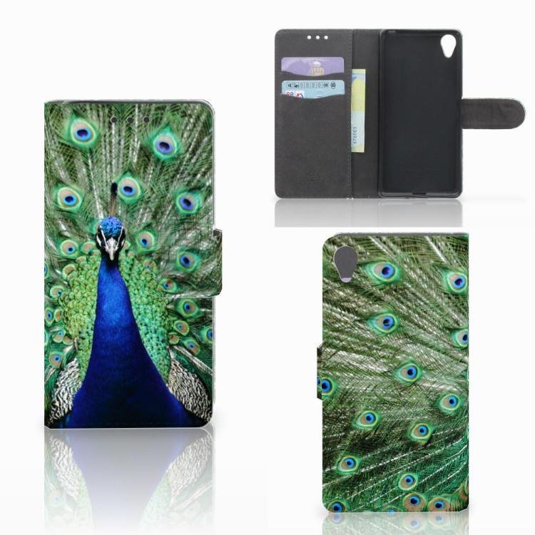 Sony Xperia X Telefoonhoesje met Pasjes Pauw