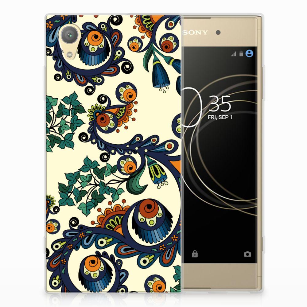 Siliconen Hoesje Sony Xperia XA1 Plus Barok Flower