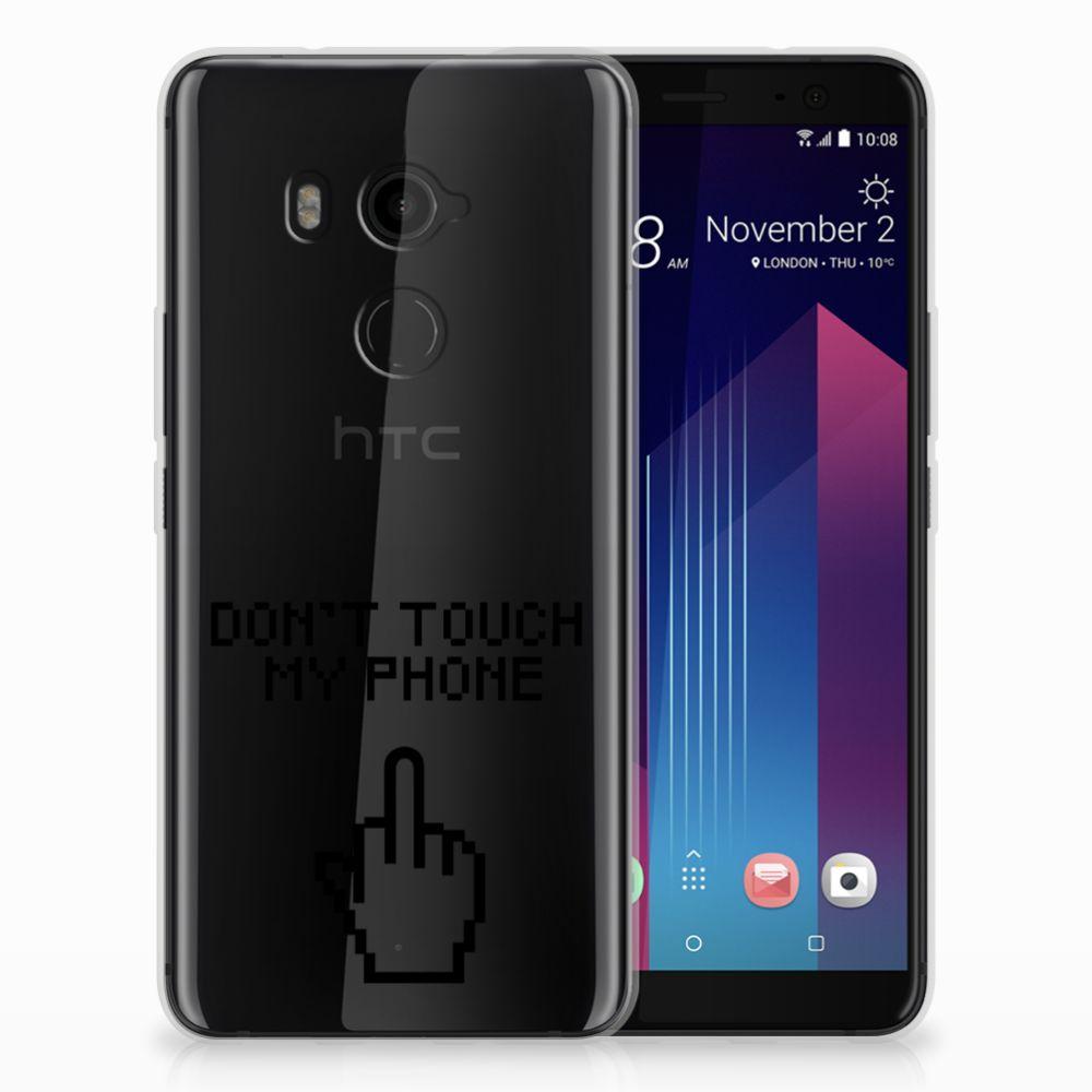 HTC U11 Plus Uniek TPU Hoesje Finger DTMP
