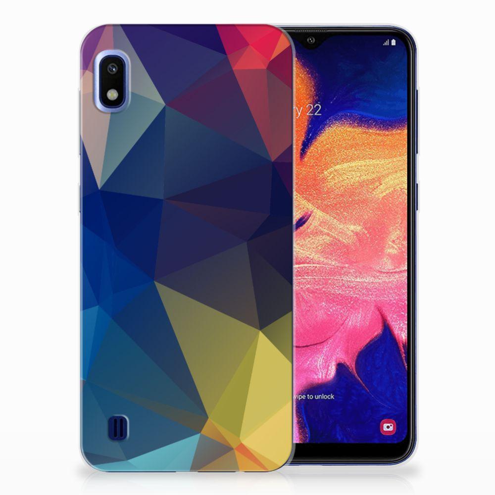 Samsung Galaxy A10 TPU Hoesje Polygon Dark
