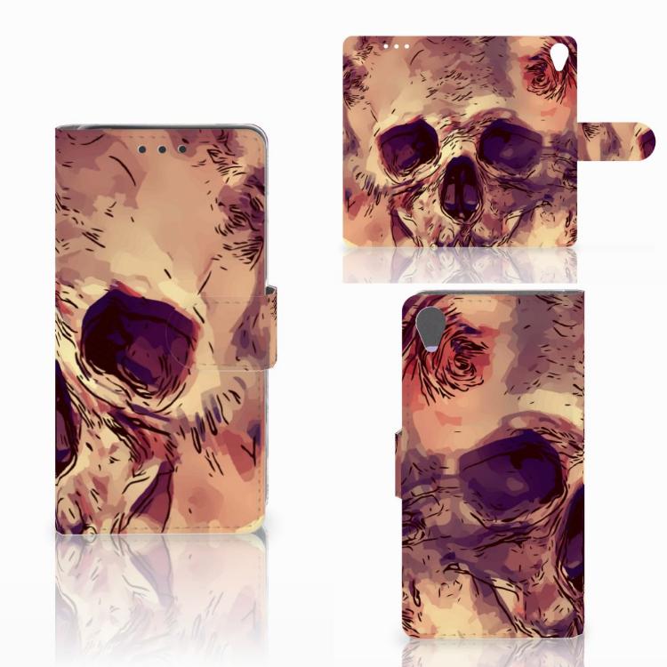 Telefoonhoesje met Naam Sony Xperia X Skullhead