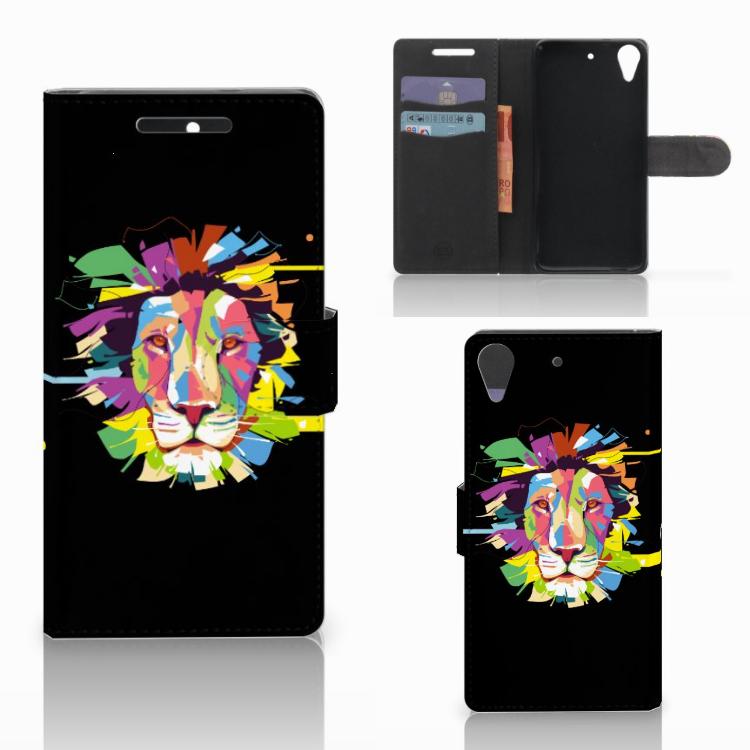 HTC Desire 628 Leuk Hoesje Lion Color