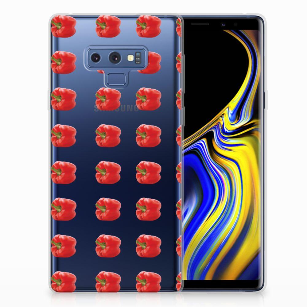 Samsung Galaxy Note 9 Siliconen Case Paprika Red