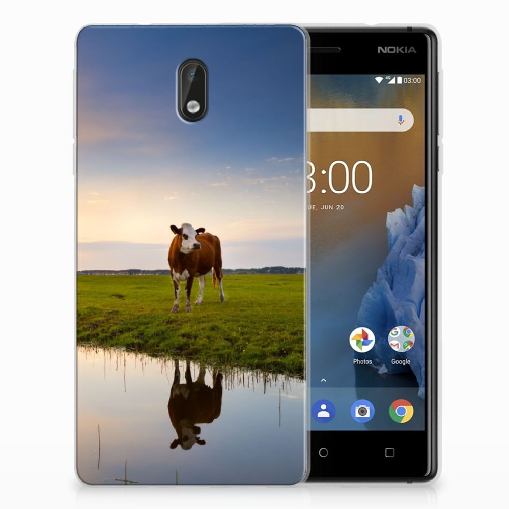 Nokia 3 TPU Hoesje Design Koe