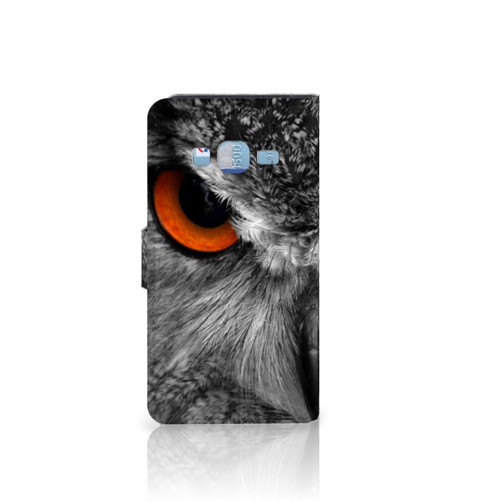 Samsung Galaxy J3 2016 Telefoonhoesje met Pasjes Uil