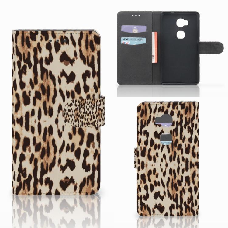 Huawei Honor 5X Telefoonhoesje met Pasjes Leopard