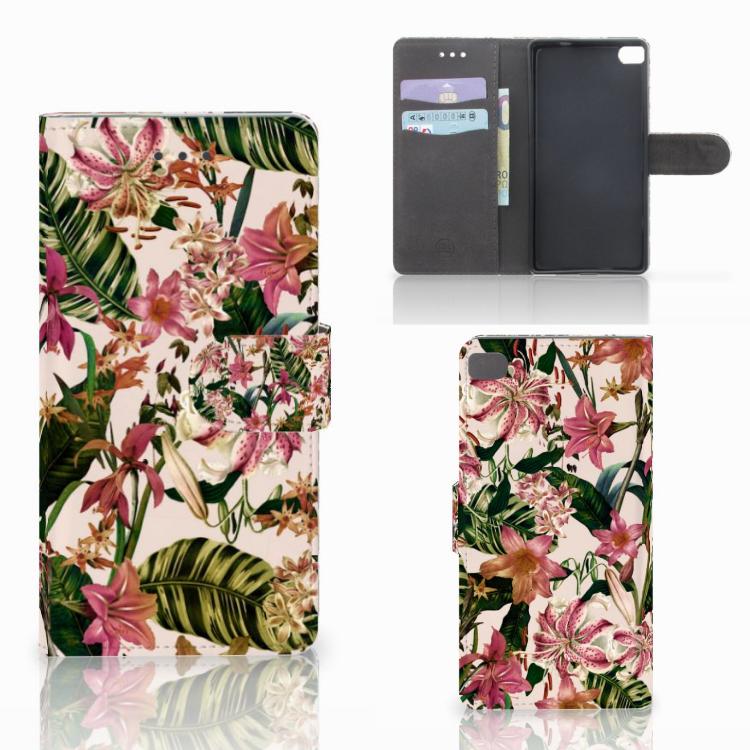 Huawei P8 Hoesje Flowers