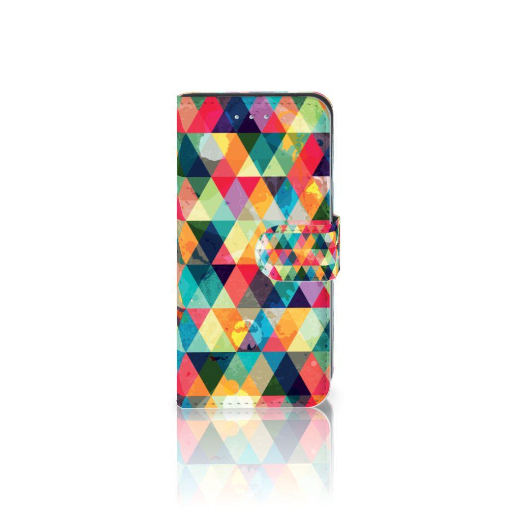 Samsung Galaxy S6 Edge Uniek Boekhoesje Geruit