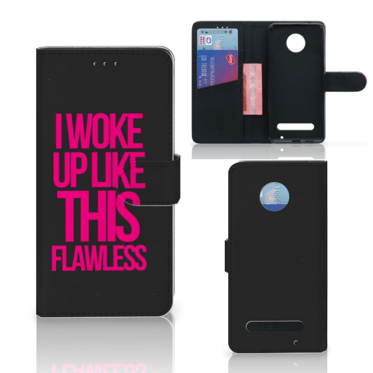 Motorola Moto Z2 Play Hoesje met naam Woke Up