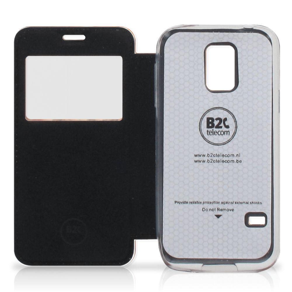 Samsung Galaxy S5 Mini Bookcase Marmer Bruin
