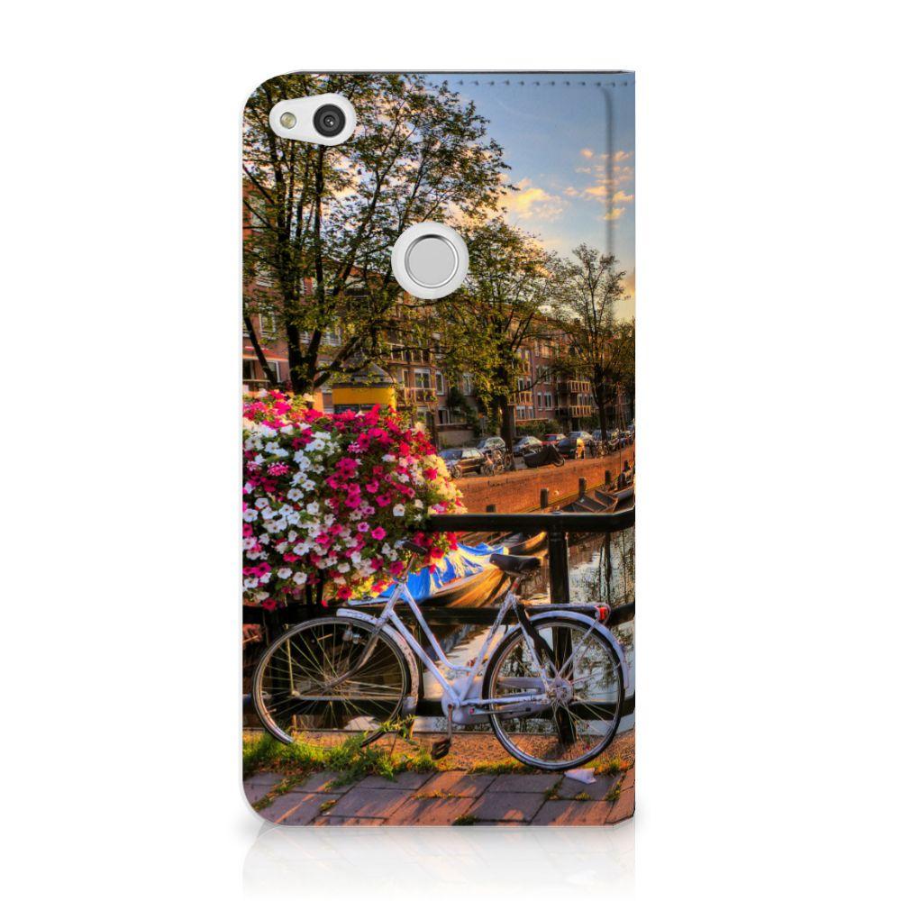 Huawei P8 Lite 2017 Uniek Standcase Hoesje Amsterdamse Grachten