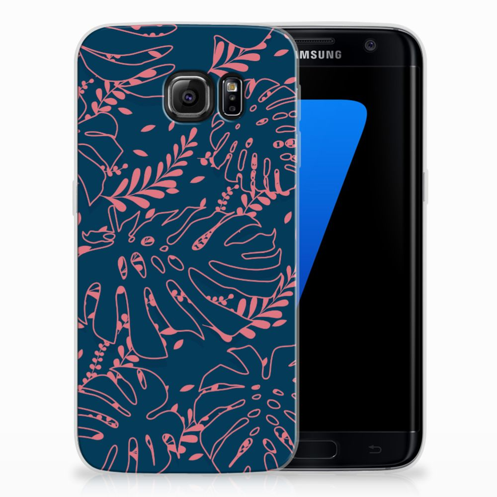 Samsung Galaxy S7 Edge TPU Hoesje Design Palm Leaves